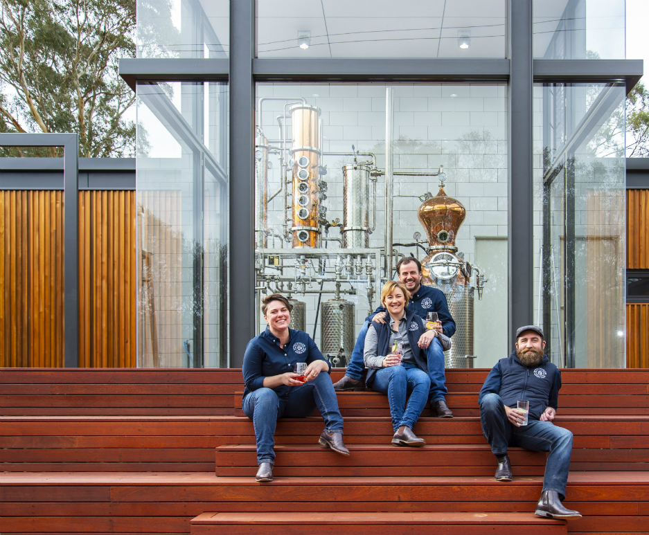 The team at Seppeltsfield Road Distillers